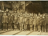 Breaker Boys Who Sort Coal by Hand at Ewen Breaker of Pennsylvania Coal Co Photographic Print by Lewis Wickes Hine