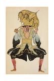The Chinese Mandarin, Costume Design for 'Sleeping Beauty', 1921 (Pencil, W/C and Gouache) Giclée-vedos tekijänä Leon Bakst