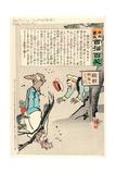 Sign Board Says Giclee Print by Kobayashi Kiyochika