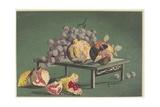 Pomegranates and Grapes, 1879-1881 Giclee Print by Kobayashi Kiyochika
