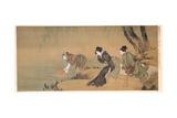 Cooling Off on a Summer Evening Reproduction procédé giclée par Katsushika Hokusai