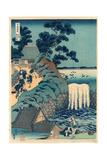 Toto Aoigaoka No Taki Impressão giclée por Katsushika Hokusai