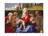 Virgin and Child with Saints Jerome, Peter, Clare and Francis, C.1505-10 Giclee Print by Lorenzo Lotto