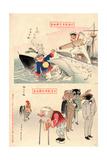 Sina Kurofune Nihon Shirofune -- Buta No Taibyo Giclee Print by Kobayashi Kiyochika