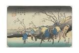 No. 20:View of Hiratsukahara in Rain Near Kustukake Station, 1835-1836 Giclee Print by Keisai Eisen