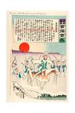 The Army of the North Melts Away before the Rising Sun Giclee Print by Kobayashi Kiyochika