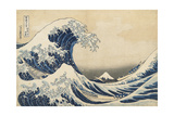 Under the Wave Off Kanagawa, 1831-34 Giclée-Druck von Katsushika Hokusai