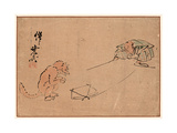 Tsuri Gitsune Giclee Print by Kawanabe Kyosai