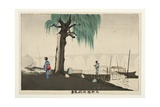 Distant View of Ryogoku from Motoyanagi Bridge, 1880-82 Giclee Print by Kobayashi Kiyochika