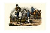 German Farm Horses, 1824 Reproduction procédé giclée par Karl Joseph Brodtmann