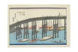 View of Eitai Bridge at the Eastern Capital Giclee Print by Keisai Eisen