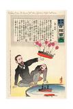 A Scheme to Save the Russian Fleet When Japanese Torpedo Boats Come Giclee Print by Kobayashi Kiyochika