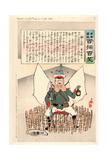 General Kuropatkin in a Safe Place Giclee Print by Kobayashi Kiyochika