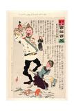 Kuropatkin Plays Too Roughly with His Toys Giclee Print by Kobayashi Kiyochika