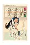 Japan Splits the Russian Torpedo Fleet Giclee Print by Kobayashi Kiyochika