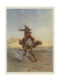 A Despatch-Bearer Egyptian Camel Corps Gicléetryck av Lady Butler