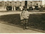 7 Year Old Newsboy Ferris in Mobile, Alabama, 1914 Photographic Print by Lewis Wickes Hine