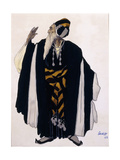 Costume Design for a Jewish Elder for the Drama 'Judith', 1922 (Pencil, W/C and Gouache on Paper) Reproduction procédé giclée par Leon Bakst