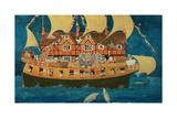 Noah's Ark Giclée-tryk af Linda Benton