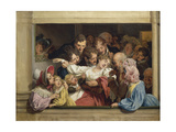 Stage on a Day of Free Entertainment: the Effect of Melodrama Giclee Print by Louis Leopold Boilly