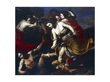 Orpheus Beaten by Bacchantes Giclée-tryk af Massimo Stanzione