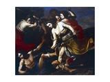 Orpheus Beaten by Bacchantes Lámina giclée por Massimo Stanzione