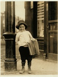 6 Year Old Newsboy Photographic Print by Lewis Wickes Hine