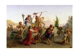 The Return of the Procession of the Madonna of the Arc, Near Naples, 1827 Giclee Print by Louis Leopold Robert