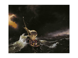 Christ in the Storm on the Sea of Galilee, 1695 Giclée-tryk af Ludolf Backhuysen