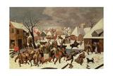 The Massacre of the Innocents (Panel) Giclée-Druck von Maerten van Cleve