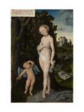Venus with Cupid Stealing Honey, 1530 Giclee Print by Lucas Cranach the Elder