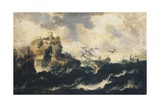 Shipwreck on the Stormy Sea Giclée-tryk af Marco Ricci