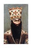 Qajar Royal Portrait; Probably Fath 'Ali Shah (1772-1834), C.1810 Lámina giclée por  Mihr 'Ali