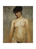 Nude Girl, 1886 Gicléetryck av Lovis Corinth