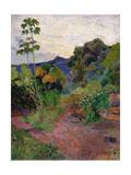 Martinique Landscape, 1887 Reproduction giclée Premium par Paul Gauguin