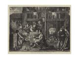 Pits and Pitmen, the Night Shift Giclee Print by Matthew White Ridley