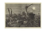 The Voyage to China, Forecastle of a Mail-Steamer in the Red Sea Giclee Print by Matthew White Ridley