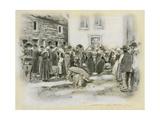 Pig Market Giclee Print by Mortimer Ludington Menpes