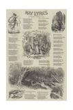 May Lyrics Reproduction procédé giclée par Myles Birket Foster