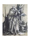 St John in the Forest Giclée-tryk af Matthias Grunewald