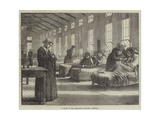 A Ward in the Hampstead Smallpox Hospital Giclee Print by Matthew White Ridley