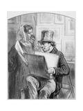 Avant La Lettre, Plate 10 from Les Toquades, 1858 Giclee Print by Paul Gavarni