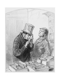 L'Edition Princeps, Plate 8 from Les Toquades, 1858 Giclee Print by Paul Gavarni