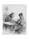 Les Cartes, Plate 20 from Les Toquades, 1858 Giclee Print by Paul Gavarni