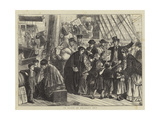 On Board an Emigrant Ship Giclee Print by Matthew White Ridley