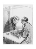 Les Échecs, Plate 15 from Les Toquades, 1858 Giclee Print by Paul Gavarni