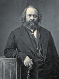 Portrait of Mikhail Aleksandrovich Bakunin, C.1860 Fotoprint van  Nadar