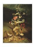 Still Life with Flowers Giclee-trykk av Otto Marseus Van Schrieck