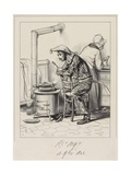 Avancez-Moi, Donc Cent Sous M'Man. . ., 1838 Giclee Print by Paul Gavarni