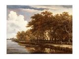 View Along the Amstel, C.1660 Lámina giclée por Meindert Hobbema
